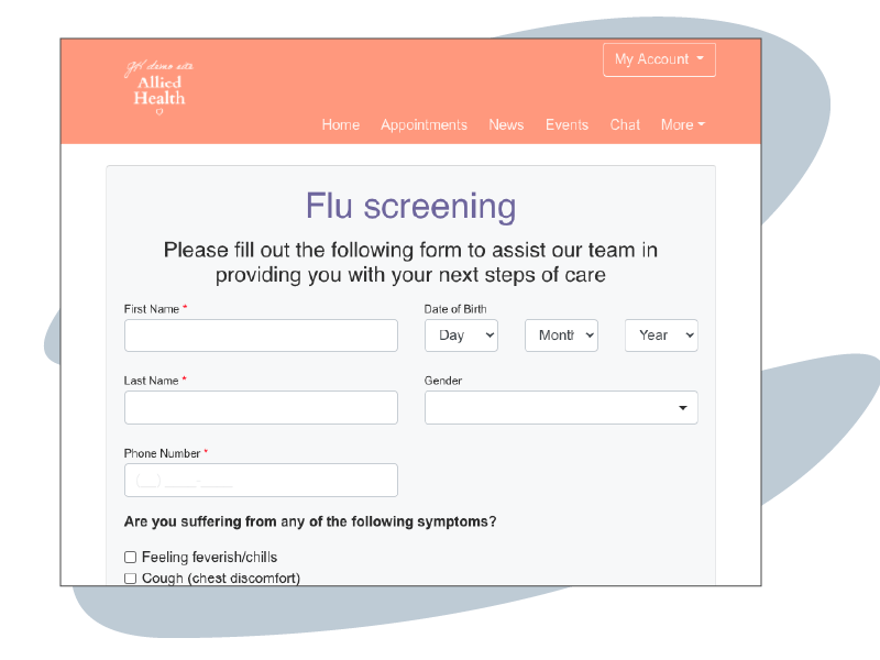 HotHealth Forms - Flu screening
